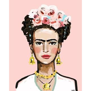 "Frida Kahlo Canvas Wrap Print - ""Frida With Roses"""