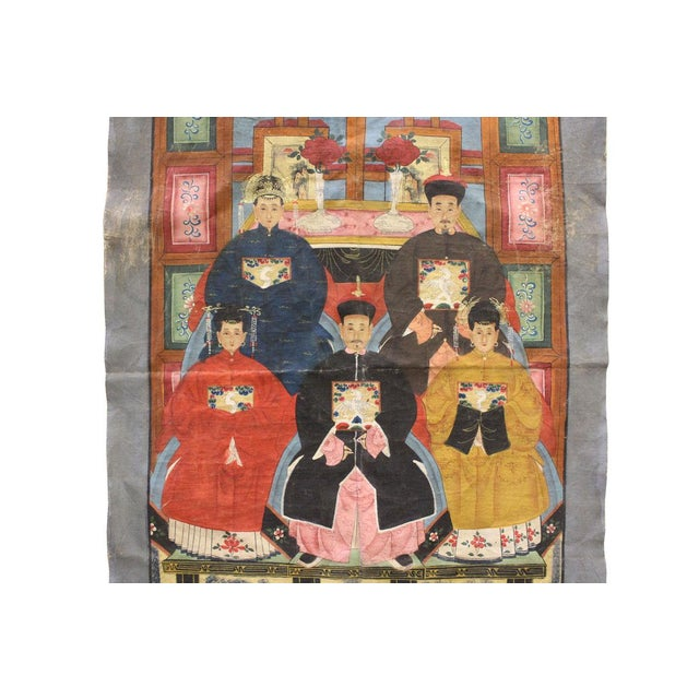 Vintage Chinese Canvas Artwork - Image 5 of 6