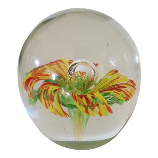 Yellow & Red Floral Paper Weight