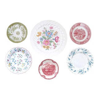 Decorative Vintage China Plates - Set of 6