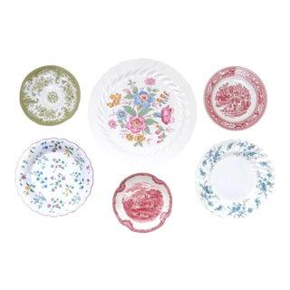 Decorative Vintage China Plates - Set of 6