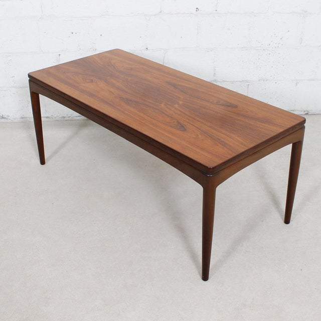 Expanding Danish Rosewood Coffee Table With Pull Out Shelf Chairish