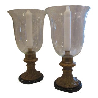 Bronze Hurricane Candle Holders