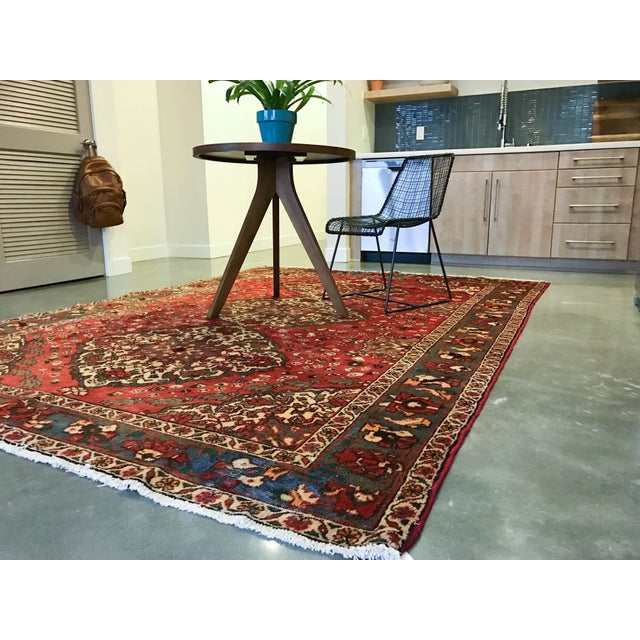 Large Hand Knotted Persian Rug - 6'11x10'0 - Image 6 of 11