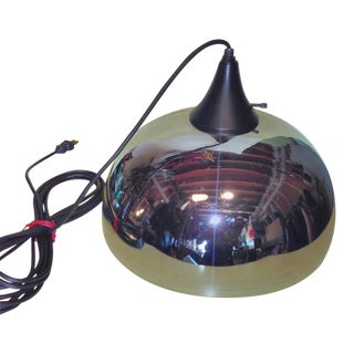 Mid-Century Chrome Pendant Light