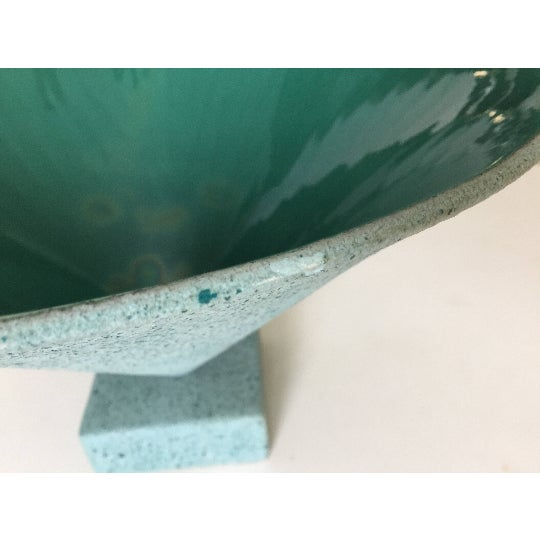 Image of Memphis Style Signed Porcelain Bowl