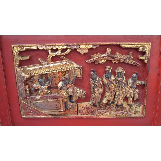 Pair of Asian Door Fragments - Image 3 of 5
