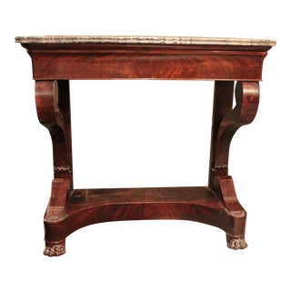 Charles X Marble Top Mahogany Console