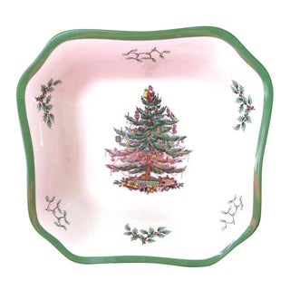 Spode Christmas Tree Square Salad Bowl