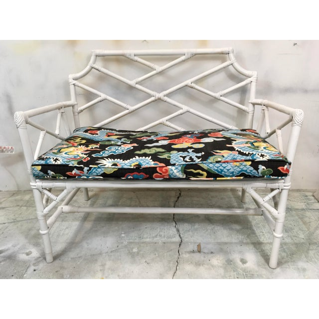 Chinese Chippendale Style Settee - Image 2 of 6