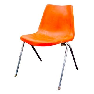 Orange Astro Furnishings Shell Chair