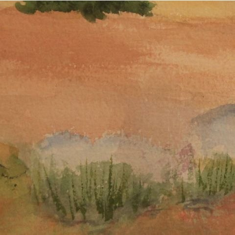 "Image of Watercolor Artwork ""Afternoon Storm in New Mexico"""