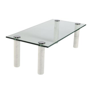 PACE MARBLE AND GLASS COCKTAIL TABLE