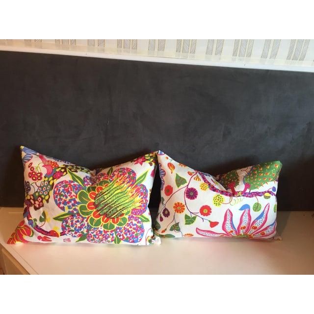 Colorful Floral Pillows - A Pair - Image 7 of 7