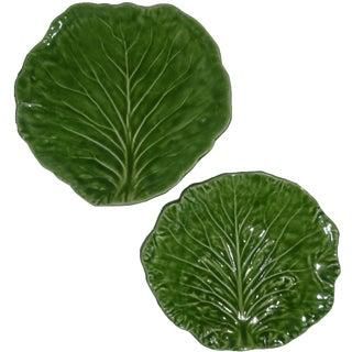 Barbara Eigen Cabbage Leaf Dishes - A Pair