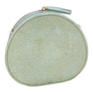 Mid-Century Mint Round Suitcase