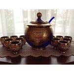Image of Antique Moser Punch Bowl Set