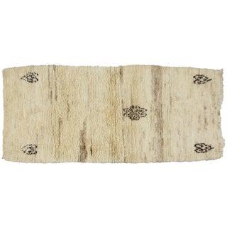 Moroccan Soft Wool Rug - 3′1″ × 7′