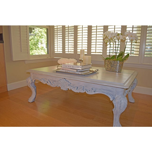 Image of Hand Painted Paris Gray Coffee Table