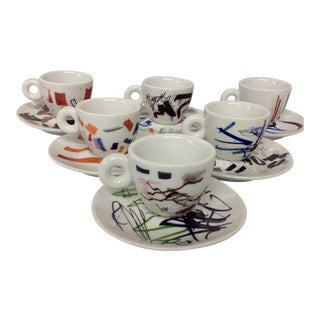 Padraig Timoney Illy Espresso Cups  - Set of 6