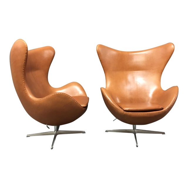 Arne Jacobsen for Fritz Hansen Egg Chairs - A Pair - Image 1 of 9