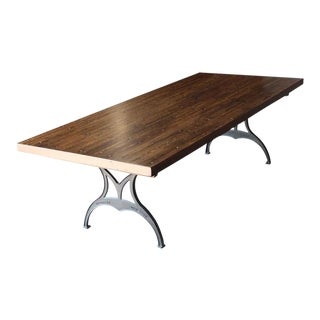 Industrial Flooring Extension Top Table With Brooklyn Legs