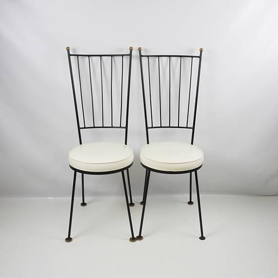 Mid-Century McCobb Style Wrought Iron Chairs - Set of 4 - Image 7 of 8