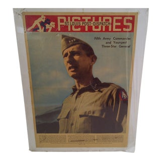 Vintage World War II News Print