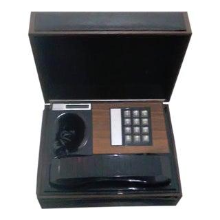 Vintage Wood & Leather Telephone Box