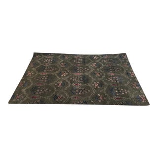 Contemporary Floral Wool Area Rug - 6′ × 8′11″