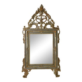 Large Rococo Style Giltwood Mirror, Italy, circa 1950