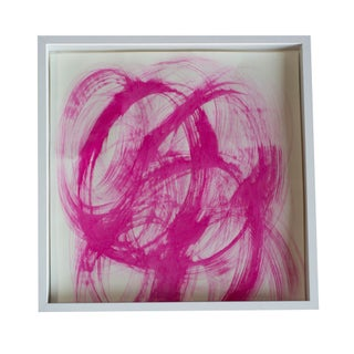 Square Framed Pink Abstract Painting