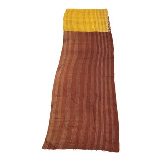 Color of Autumn Silk Kantha Table Runner