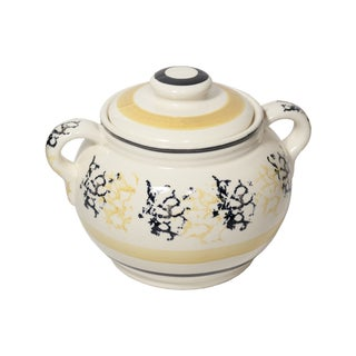 1930s Roseville Pottery Jardiniere or Pot With Lid