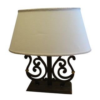 Dana Creath Iron & Brass Scrolled Table Lamp