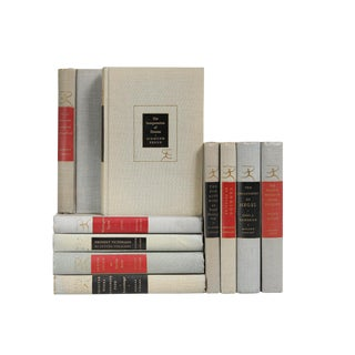 Modern Scarlet & Onyx Library Accent Books- Set of 10