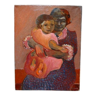 "Anders Aldrin Painting, ""Mother and Daughter"""