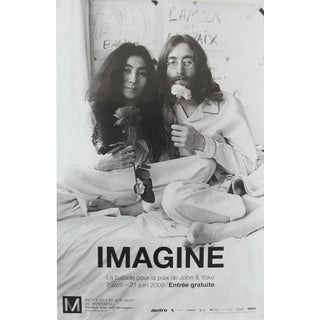 2009 Exhibition Poster, Imagine John Lennon and Yoko Ono Bed-In for Peace