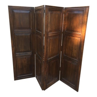 Solid Oak Room Divider Screen