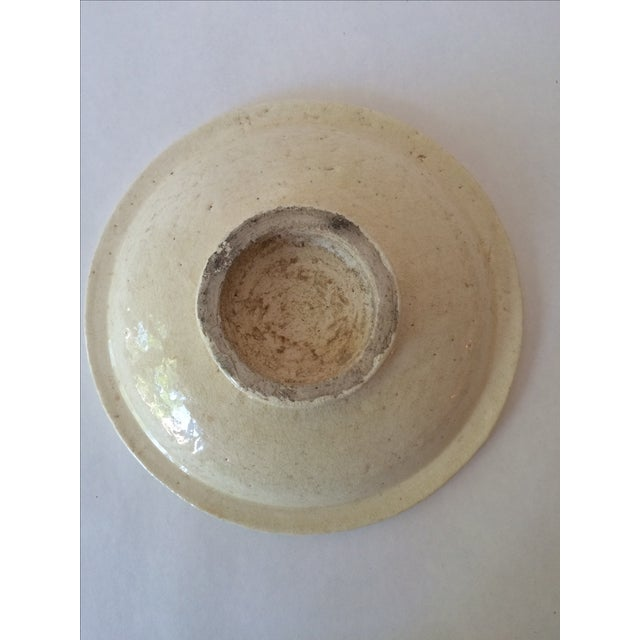 Vintage Footed Ceramic Bowl - Image 10 of 11