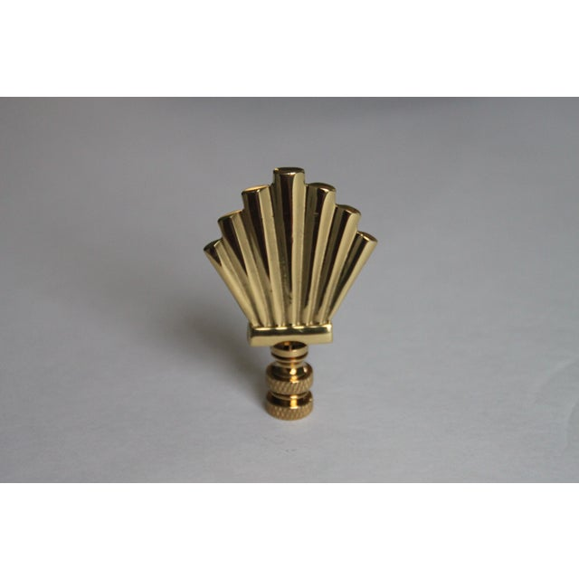 Image of Brass Art Deco Style Finials - A Pair