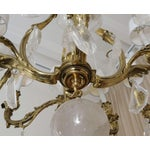 Image of Patinated Bronze and Oversized Quartz Crystal Chandelier