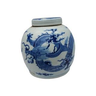 Blue & White Dragon Ginger Jar