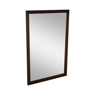 Mid Century Modern Walnut Rectangular Wall Mirror