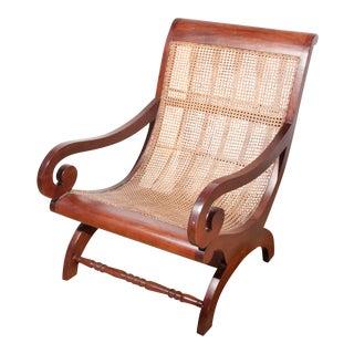 British Colonial Plantation Cane Chair