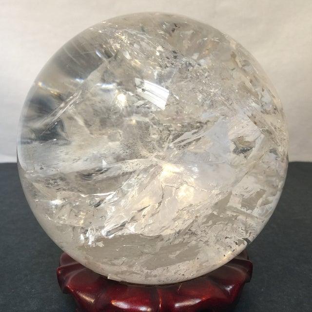 Extra Large Quartz Crystal Ball - Image 7 of 8