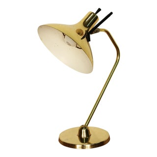 Maurizio Tempestini Lightolier Style Brass Table Lamp