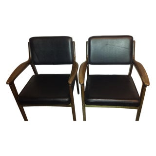 Vintage Kosuga Leather Chairs - A Pair