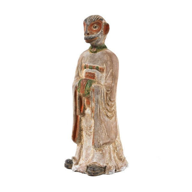 19th C. Chinese Monkey Zodiac Figurine - Image 2 of 9