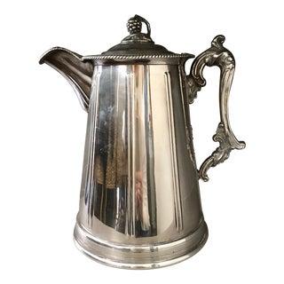 Antique Silver English Coffee Pot